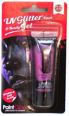 UV-glitter ihogeeli. Useita eri värivaihtoehtoja.