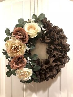 Creative Wreath You Have To Craft In Fall This Year 13 Informations About 39 Creative Wreath You Hav Diy Spring Wreath, Fall Wreaths, Deco Mesh Wreaths, Fall Wreath Burlap, Burlap Christmas Wreaths, Burlap Bubble Wreath, Rustic Wreaths, Chevron Burlap Wreaths, Pumpkin Wreath