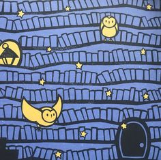 The Midnight Library by Kazuno Kohara | end paper detail