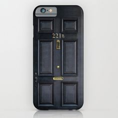 Cool iPhone 6 cases: Sherlock Holmes front door on Society 6