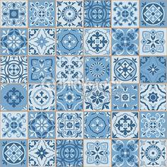 ベクトルアート : シームレスパターンの白い sereniti カラーモロッコ、ポルトガル産タイル、Azulejo 、装飾品です。 Patchwork Tiles, Page Web, Zentangle Drawings, Decoupage Paper, Illustrations, My Favorite Color, Textured Background, Royalty Free Images, Diy And Crafts