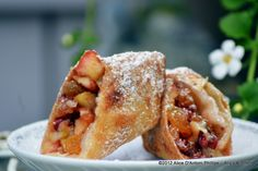 """Apple Cardamom Red Walnut Springroll"""