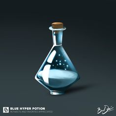 Blue Hyper Potion by BareDesigns on DeviantArt