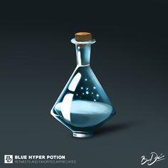 Blue Hyper Potion by BareDesigns on DeviantArt