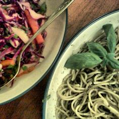 Crunchy Salad w/ Lime & Cilantro & Nut/Dairy Free Sundayflower seed Pesto #Sundaysupper @theallergickid