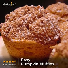 """These pumpkin muffins stay very moist and fresh for at least a week. They taste good even when frozen and defrosted."" —only a few ingredients"