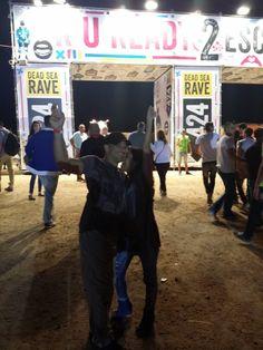 a rave at Masada