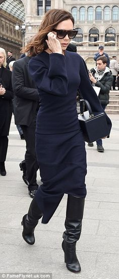Victoria Beckham - Milan Fashion Week Memorial Service for the late Vogue Italia Editor, Franca Sozzani, who passed away on 22 December 2016, aged 66.  (February 2017)