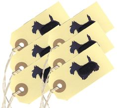 Handmade Scottie dog gift tags - Penny Lindop Designs