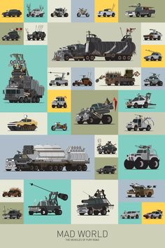 MAD MAX Vehicle Poster - Mad World: The Vehicles of Fury Road