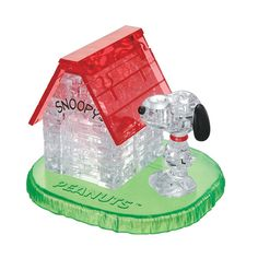 Crystal Puzzle Snoopy & House 3D