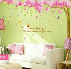 Wholesale-Butterfly-tree-flower-Animal-Quote-Wall-Stickers-Art-Decal-Home-Decor