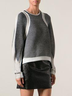 Helmut Lang converging panel sweater