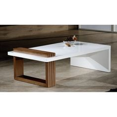 High Gloss MDF Modern Coffee Table in White CC61 Coffe tables