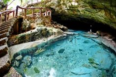 Clear Blue Water Of Ogtong Cave On Bantayan Island, Cebu ...