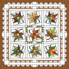 Free Pattern: Maple Leaf Quilt from France