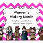 Everything you need to teach about the women who have impacted our nation's history in so many ways.  In this download, you will find a Women's His...