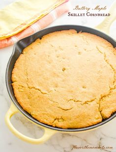 Buttery Maple Skillet Cornbread | Flavor the Moments