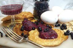 Hälsosamma grötpannkakor med nyttig blåbärssylt - Victorias provkök