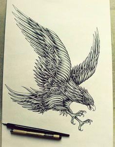 ペンで手描きされた機械のように超精密な作品 - 04