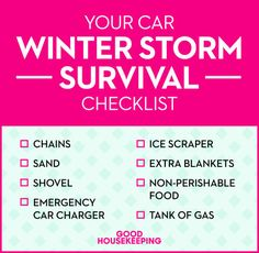 Here's what you should have in your car to weather a winter storm with ease — even if you're holed up indoors for a few days.