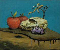 Original Still Life Painting by Gyula Szabo Skull Painting, Fruit Painting, Oil On Canvas, Canvas Art, Painting Canvas, Original Art, Original Paintings, Art Oil, Figurative Art