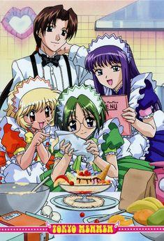 Keiichirou, Zakuro, Buling, and Retasu Manga Anime, Anime Art, Blue Exorcist, Mew Mew Power, Tokyo Mew Mew Ichigo, Panini Comics, Real Anime, Disney Fan Art, Manga Comics