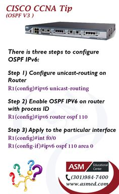 Cisco CCNA Training / Tip - OSPF V3.For more information to get certified for  Cisco CCNA, CCNP   please Check out:  http://asmed.com/information-technology-it/