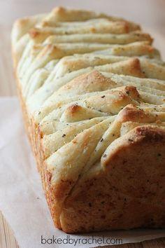 Garlic and Herb Pull Apart Bread Recipe from http://bakedbyrachel.com
