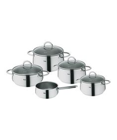 I think these are the pots I want...Selection Nine-Piece Cooking Set by Fissler