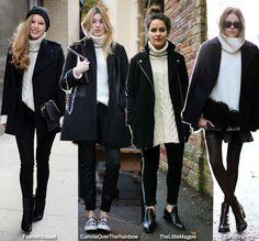 How to Wear: White Turtleneck + Black