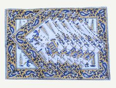 Block Printed Table Placemat and Napkin set - Block Printed Napkins - Block Printed Placemats - Dining and Table Linens - Set of 12 Pcs Printed Napkins, Cotton Napkins, Cloth Napkins, Napkins Set, Cotton Mats, Cotton Quilts, Art Mat, Print Place, Canvas Fabric
