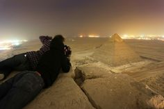 On top of the Kheops pyramid