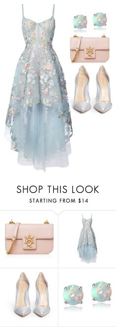 """""""Romantic Dinner"""" by stevie-pumpkin ❤ liked on Polyvore featuring Alexander McQueen, Notte by Marchesa, Gianvito Rossi and Glitzy Rocks"""