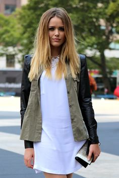 Cute hair and jacket