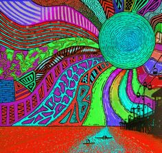 Psychedelic Art, Gifs, Trippy Visuals, Sun Drawing, Music Visualization, Hippie Painting, Good Day Sunshine, Stoner Art, Hippie Art