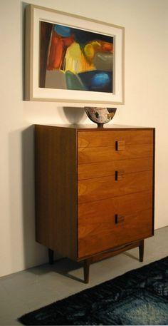 Camiseiro Ib Kofod Larsen Stunning Chest of Drawers by Ib Kofod Larsen in teak wood. Restored in lovely condition.