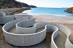 Reiulf Ramstad Arkitekter, Selvika beach access ramp, Havøysund, Norway