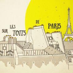 Paris Tote Bag Eiffel Tower Tote Fashion par AtelierSerendipitous