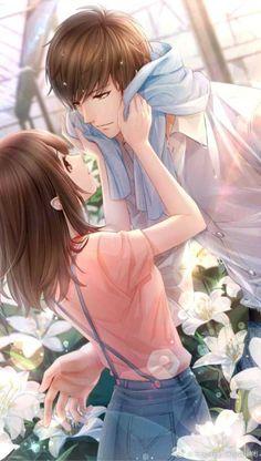 Anime Love Bird – Anime Fang – Anime couples – – World Of Games Couple Anime Manga, Couple Amour Anime, Romantic Anime Couples, Anime Love Couple, Anime Couples Manga, Kawaii Anime, Anime Cupples, Chica Anime Manga, Art Anime Fille