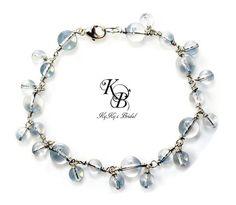 Something Blue, Bridal Bracelet, Blue Bracelet, Bridal Shower Gift, Sterling Silver Bridal Bracelet, Bridal Jewelry, Gift For Bride | KyKy's Bridal, Handmade Bridal Jewelry, Wedding Jewelry