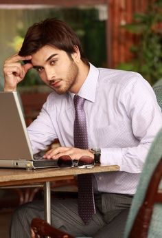 Imran Abbas. Imagine if he worked at your job and he looked at you like this. I would get nothing done, I'd be too busy having a heart attack to concentrate