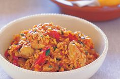 Take your tastebuds on a culinary trip to Spain with this easy aromatic rice and chicken dish.