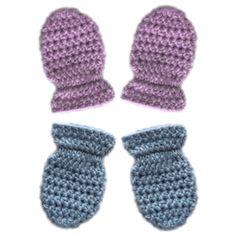 crochet classic baby mittens