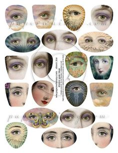 """The beautiful faces of PaperWhimsy. 8-1/2""""x11"""", PDF DOWNLOAD. Information…"""