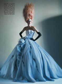 """Vogue Italia / March 2011 """"It's All About Couture"""" Model: Stella Tennant, Photographer: Paolo Roversi, Stylist: Edward Enninful"""