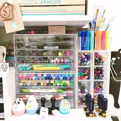 """Thanks @wansplansandexplorations for tagging me to post a #prettypenpic :) I have yet to clean up + organise my desk and shelf to put my acrylic drawers that hold most of my pens. So I figured this old pic of my #muji acrylic drawers would do! Tagging @lovecynthia @suzymonzter @amytangerine @jcchris @mariacgbc  and @scrapncrop  to show us your #prettypenpic ! Happy Friday!!"" Photo taken by @happiescrappie on Instagram, pinned via the InstaPin iOS App! http://www.instapinapp.com (10/02/2015)"