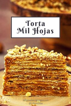 Torta Mil Hojas is part of Mil hojas cake recipe - Apple Recipes Easy, Sweet Recipes, Baking Recipes, Cake Recipes, Torta Chilena Recipe, Mil Hojas Cake Recipe, Food Cakes, Cupcake Cakes, Christmas Cake Recipe Traditional