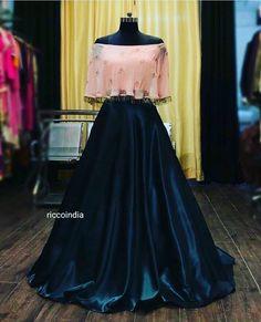 Buy New Latest Women (लहंगा) Lehenga Choli Designs 2020 Indian Fashion Dresses, Indian Gowns Dresses, Dress Indian Style, Indian Designer Outfits, Black Indian Gown, Indian Fashion Trends, Stylish Dress Designs, Stylish Dresses, Latest Dress Design