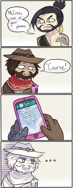 Overwatch: Look at your phone by serpchi